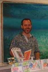 Charles Carey in his art gallery in Harbour  Island, Bahamas
