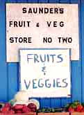 Mr. Saunders fruit & veggies of Harbour Island bahamas