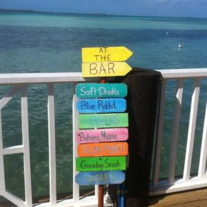 Harbour Island drinks sign