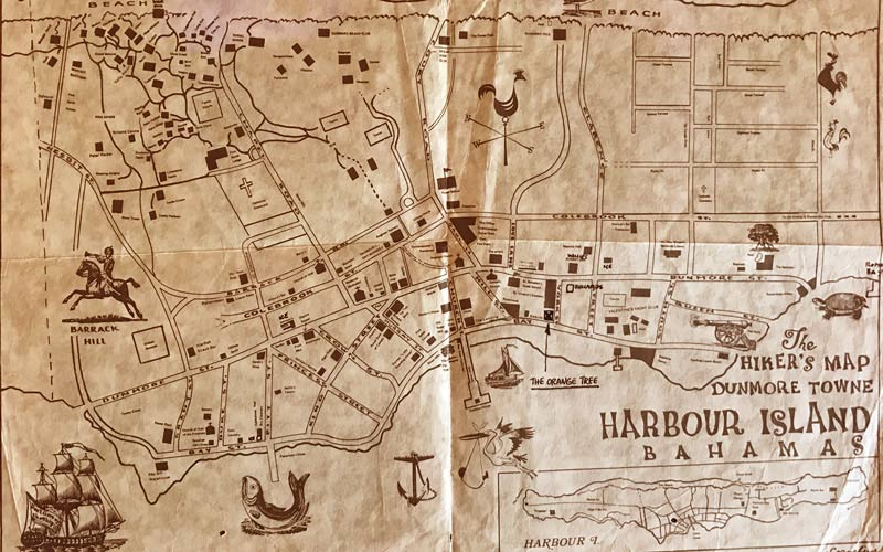 old map of Harbour Island Bahamas