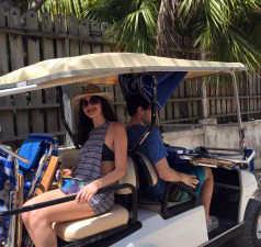 Golf cart harbour island