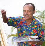 Eddie Minnis paints